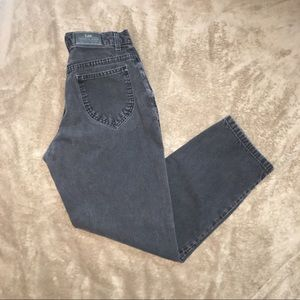 Vintage black Lee high waisted mom jeans 1990s